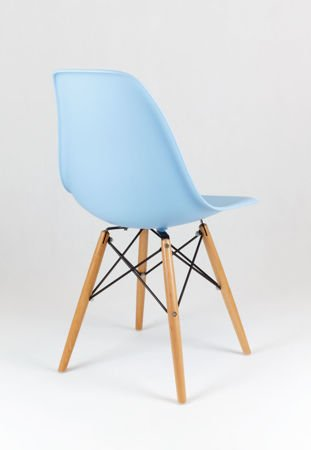 SK Design KR012 Light Blue Chair Beech