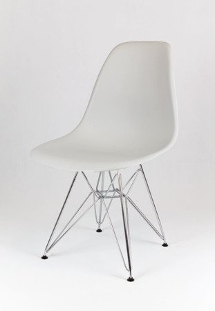 SK Design KR012 Light Grey Chair, Chrome legs