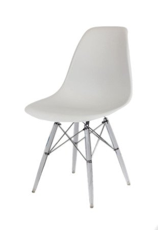 SK Design KR012 Light Grey Chair Clear Legs