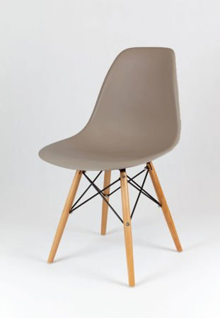 SK Design KR012 Mild Grey Chair Beech