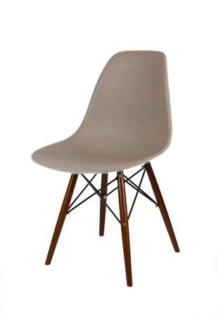 SK Design KR012 Mild Grey Chair, Wenge Legs