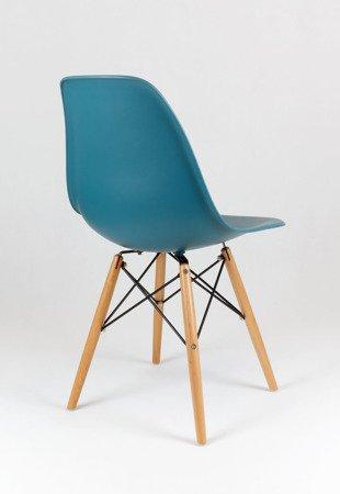 SK Design KR012 Navy Green Chair, Beech legs