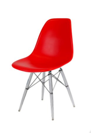 SK Design KR012 Red Chair Clear