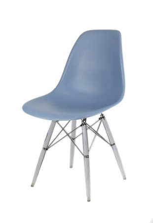 SK Design KR012 Slate Chair Clear