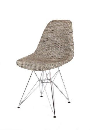 SK Design KR012 Upholstered Chair Lawa02, Chrome legs