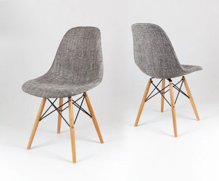 SK Design KR012 Upholstered Chair Lawa05, Beech legs