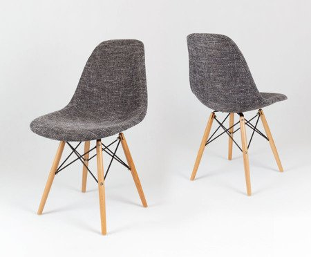 SK Design KR012 Upholstered Chair Lawa17, Beech legs