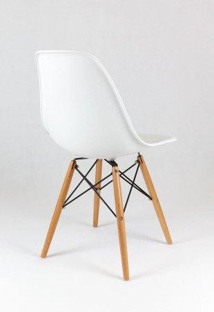 SK Design KR012 White Chair Beech