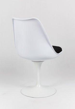 SK Design KR029 White Swivel Chair + Cushion