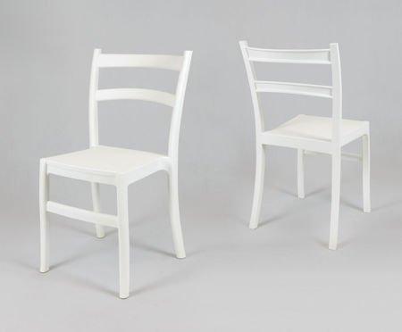 SK Design KR032 White Polypropylene Chair Retro