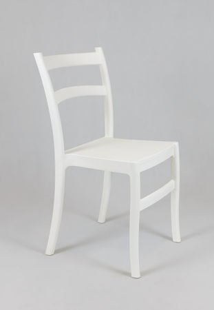 SK Design KR032 White Polypropylene Chair Retro