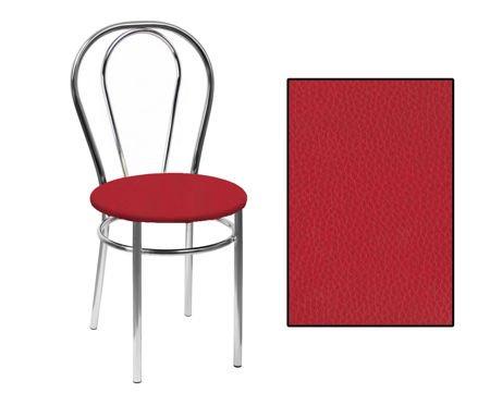 SKN Mars Red Chair, Chrome Legs