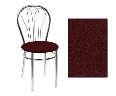 SKN Jowisz Brown Chair, Chrome Legs