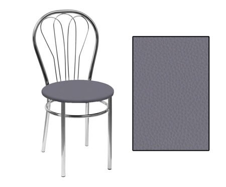SKN Jowisz, Light Grey Chair, Chrome legs