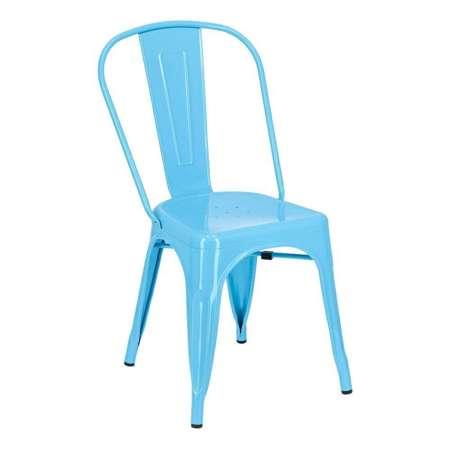 Tolix blue Paris chair