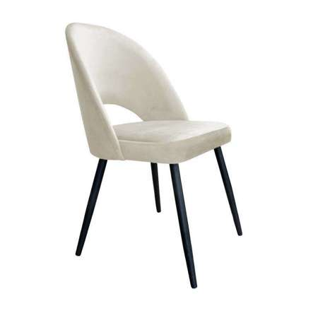 Upholstered LUNA chair in ivory color material MG-50