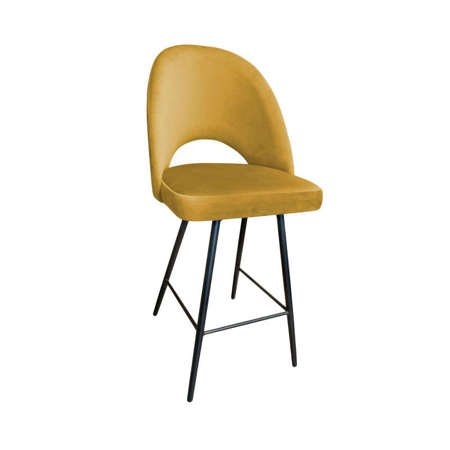 Yellow upholstered LUNA hoker material MG-15