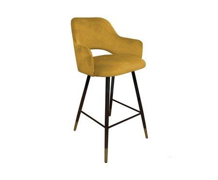 Yellow upholstered STAR hoker material MG-15 with golden leg