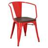 Paris Arms Wood chair, red brushed pine