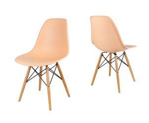 SK Design KR012 Pfirisich Stuhl Buche
