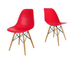 SK Design KR012 Rot Stuhl Buche