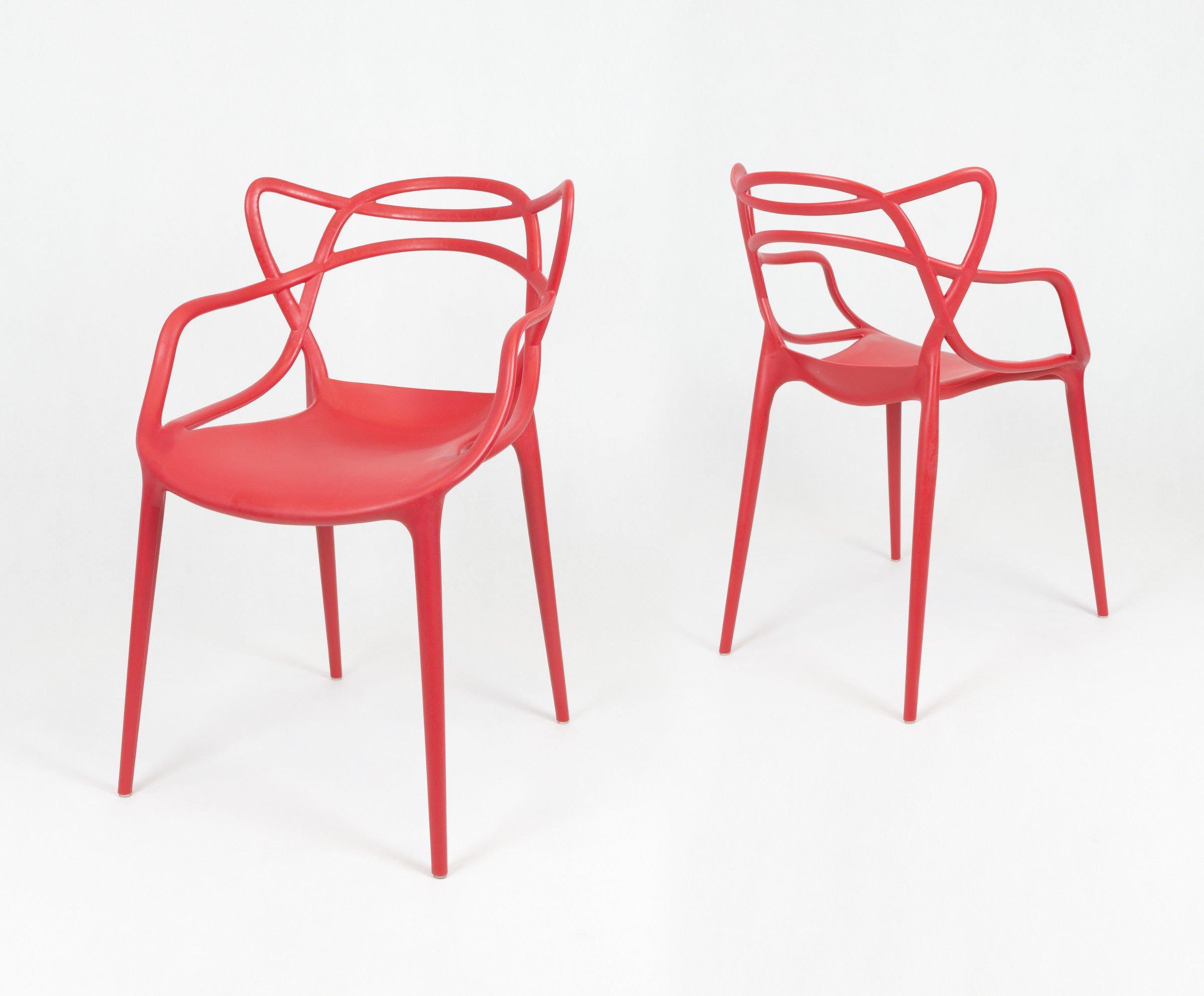 Sk design kr013 rot stuhl rot angebot st hlen salon for Design stuhl rot