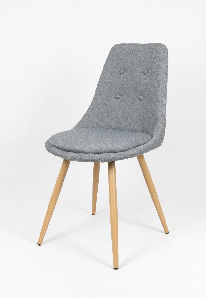 Sk design kr051 grau stuhl mit kissen grau angebot for Design stuhl hersteller