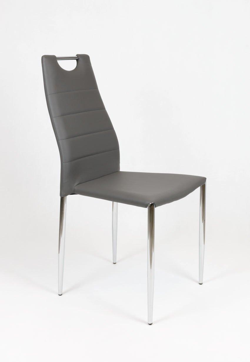 outlet sk design ks005 ks005 dunkel grau kunsleder stuhl