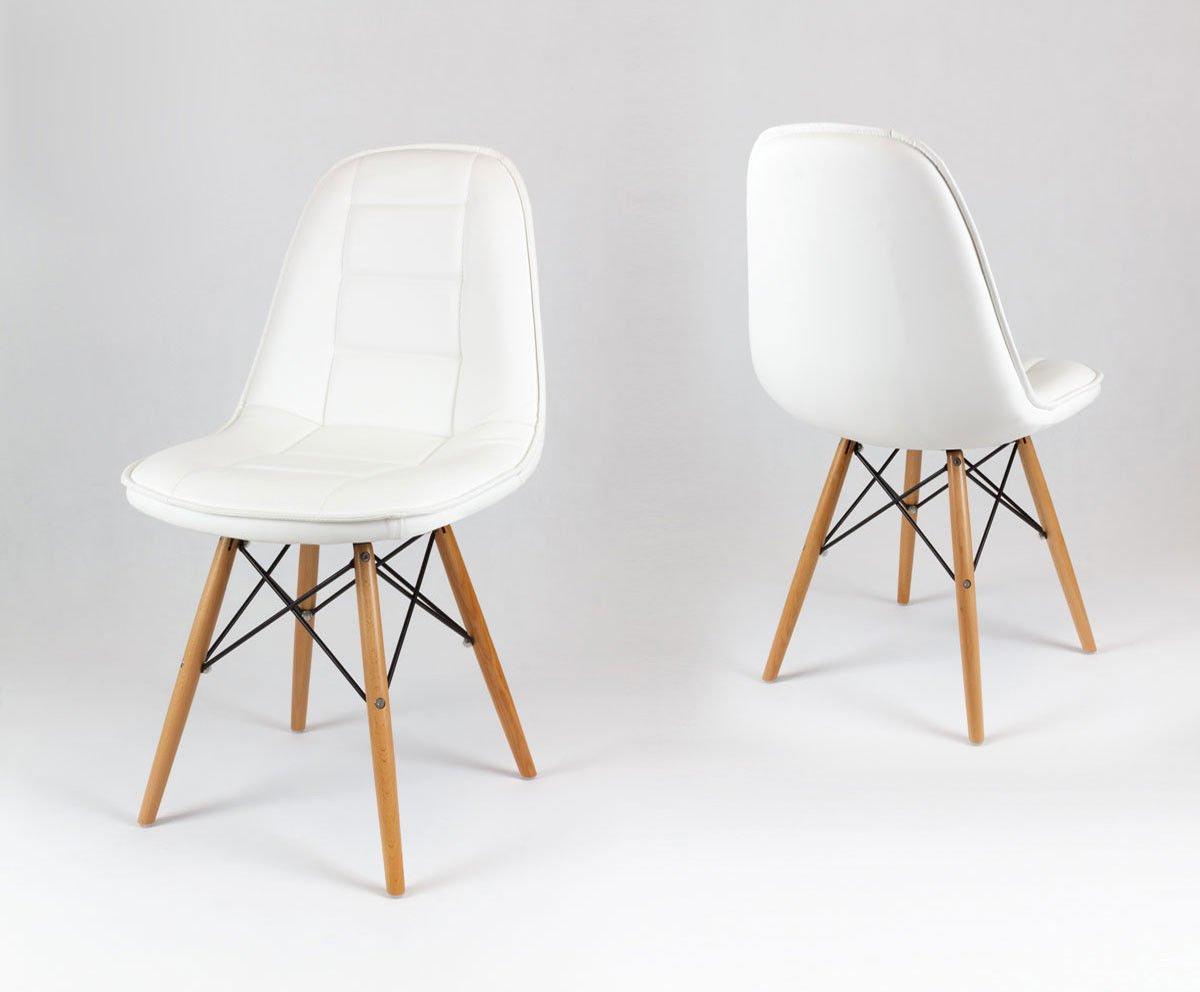 sk design ks009 weiss kunsleder stuhl mit holzbeine weiss sonderangebote angebot st hlen. Black Bedroom Furniture Sets. Home Design Ideas