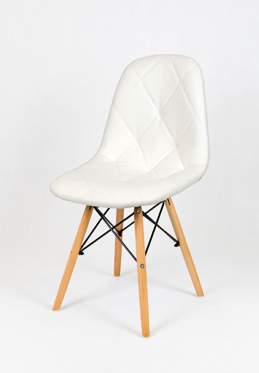 sk design ks007 weiss kunsleder stuhl mit holzbeine weiss. Black Bedroom Furniture Sets. Home Design Ideas