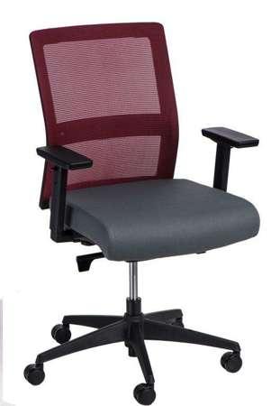 Bürostuhl Drücken Sie rot / grau