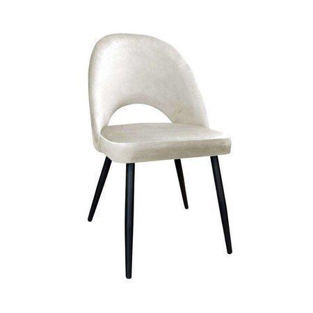 Gepolsterter Stuhl LUNA aus elfenbeinfarbenem Material MG-50