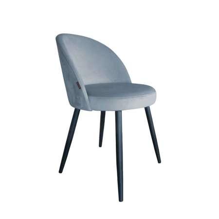 Grau-blau gepolsterter Stuhl CENTAUR Material BL-06
