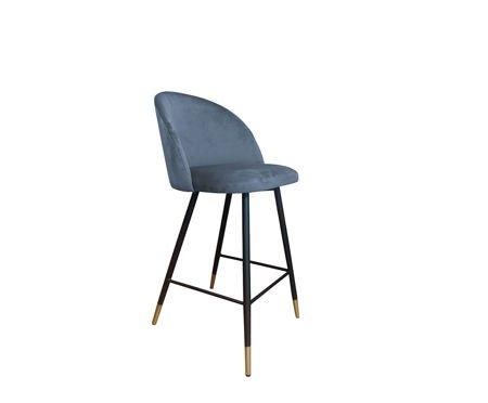 KALIPSO Stoker blau-grau Material BL-06 mit goldenen Beinen