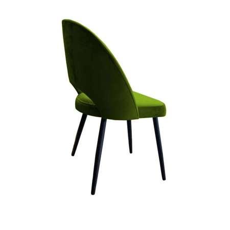 Oliv gepolsterter Stuhl LUNA Material BL-75