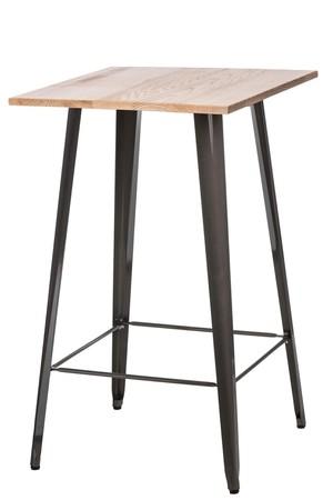 Paris Holz Stehtisch Esche metallic