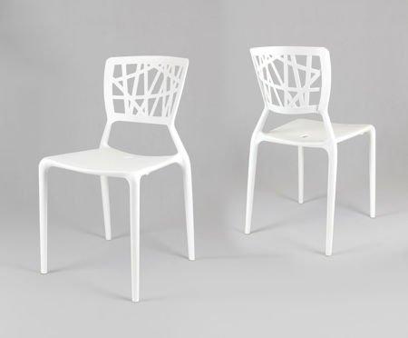SK Design KR014 Weiss Stuhl