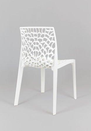 SK Design KR026 Weiss Stuhl aus Streckpolypropylen Garten