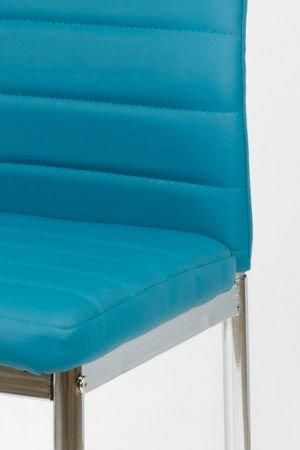 SK Design KS001 Dunkeltürkis Kunsleder Stuhl auf einem lackierten Rahmen