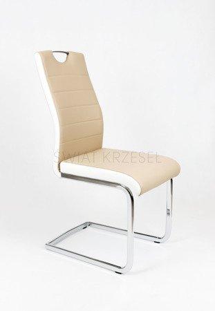 SK DESIGN KS037 BEIGE Kunsleder Stuhl mit Chrome