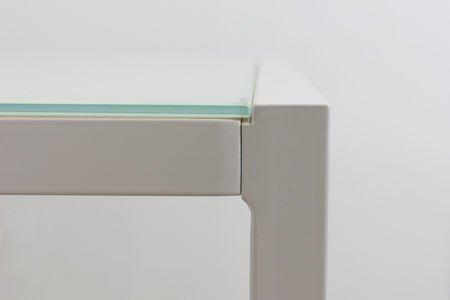 SK DESIGN ST11 WEISS GLAS TABELLE 160 x 90 cm