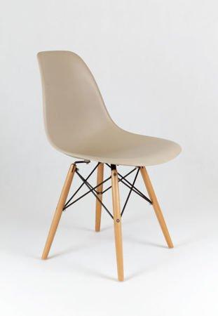 SK Design KR012 Beige Stuhl Buche