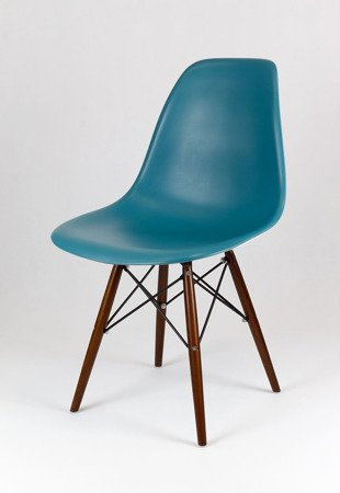 SK Design KR012 Dunkelblau Stuhl, Wenge