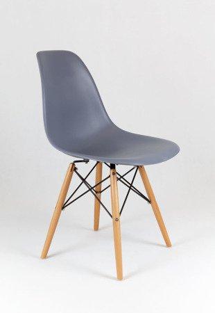 SK Design KR012 Dunkelgrau Stuhl Buche