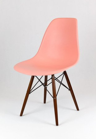 SK Design KR012 Hellrosa Stuhl Wenge