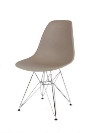 SK Design KR012 Latte Stuhl Chrom