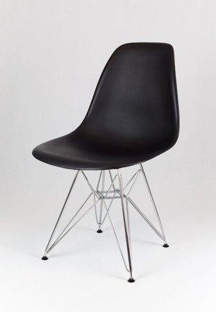 SK Design KR012 Schwarz Stuhl Chrom