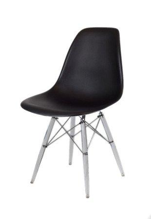 SK Design KR012 Schwarz Stuhl Clear