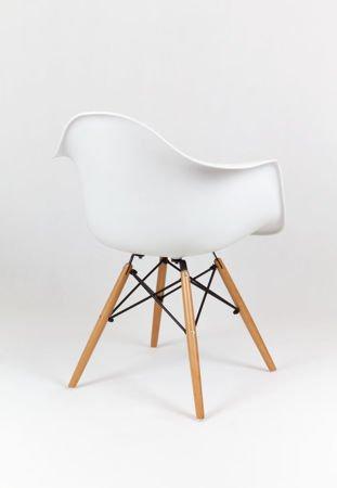 SK Design KR012F Weiss Sessel, Buche
