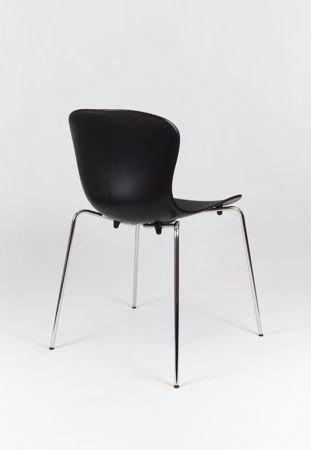 SK Design KR019 Schwarz Stuhl mit Metallgestell